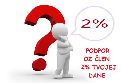 PODPORTE OZ ČLEN 2% VAŠICH DANÍ.